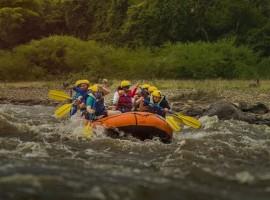 Paicol rafting sobre el rió Paez